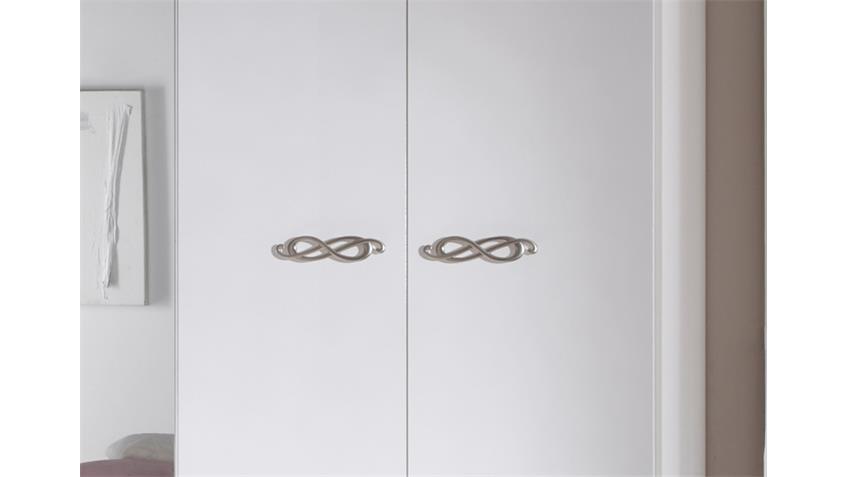 Kleiderschrank AMBROSIA 5-türig Hochglanz Weiß lackiert