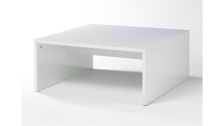 Couchtisch BOX Weiß echt Hochglanz lackiert