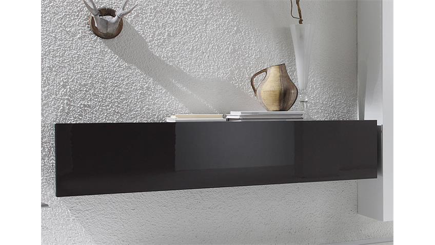 Wohnkombi 2 BOX Anthrazit Weiß Sand Hochglanz lackiert