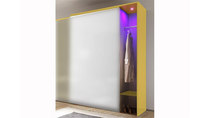 Garderobe AMATA Gelb Hochglanz lackiert