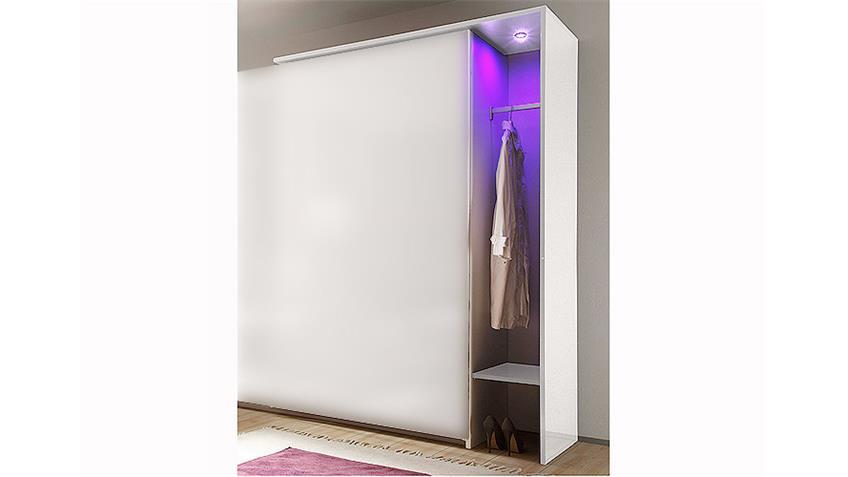 Garderobe AMATA Weiß Hochglanz lackiert