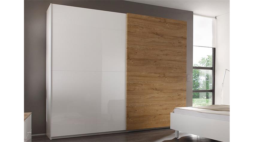 Schlafzimmer-Set TAMBURA Weiß Lack und Eiche Natur