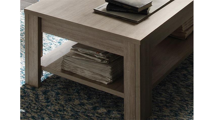 Couchtisch ELBA Tisch Beistelltisch in Eiche gekälkt 140 cm
