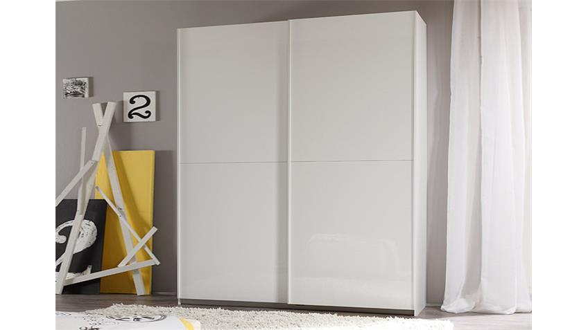 Schwebetürenschrank SMART Weiß Hochglanz B 179 cm