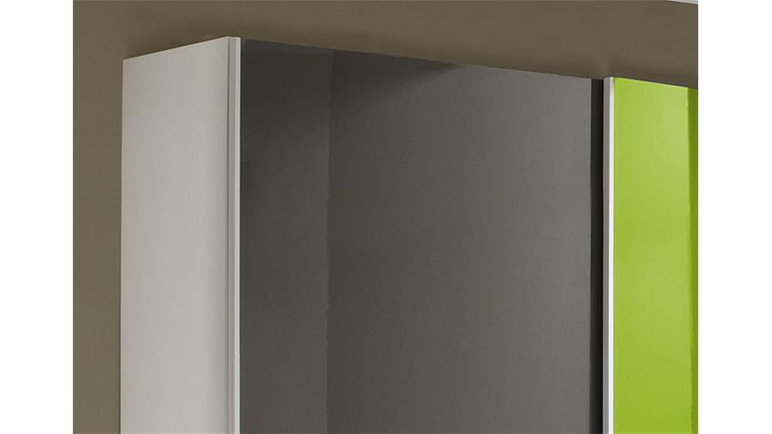 Schwebetürenschrank SMART anthrazit und grün B 240 cm