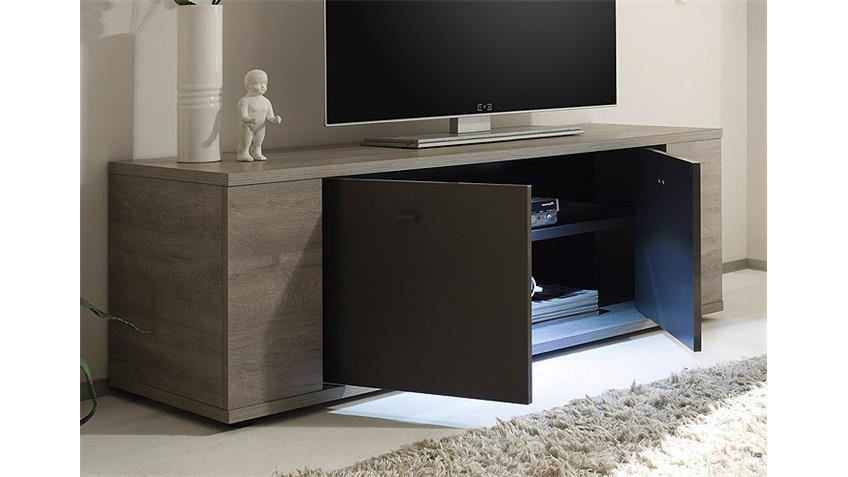 TV-Element SIDNEY Eiche Grau und Anthrazit matt inkl. LED 137 cm