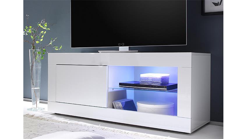 tv element basic wei lackiert b 140 cm 1 t r 2 f cher. Black Bedroom Furniture Sets. Home Design Ideas