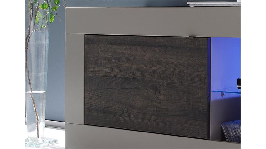 TV-Element BASIC Beige Matt und Eiche Wenge B 140 cm