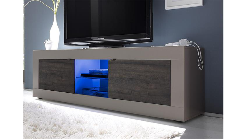 TV-Element BASIC Beige Matt und Eiche Wenge B 181 cm