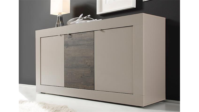 Sideboard BASIC Kommode Beige Matt Eiche Wenge B 160 cm