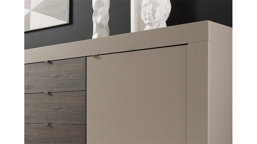 Sideboard BASIC Kommode Beige Matt Eiche Wenge B 210 cm