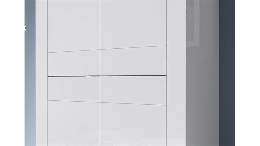 Highboard BASIC Sideboard in Weiß lackiert mit 4 Türen