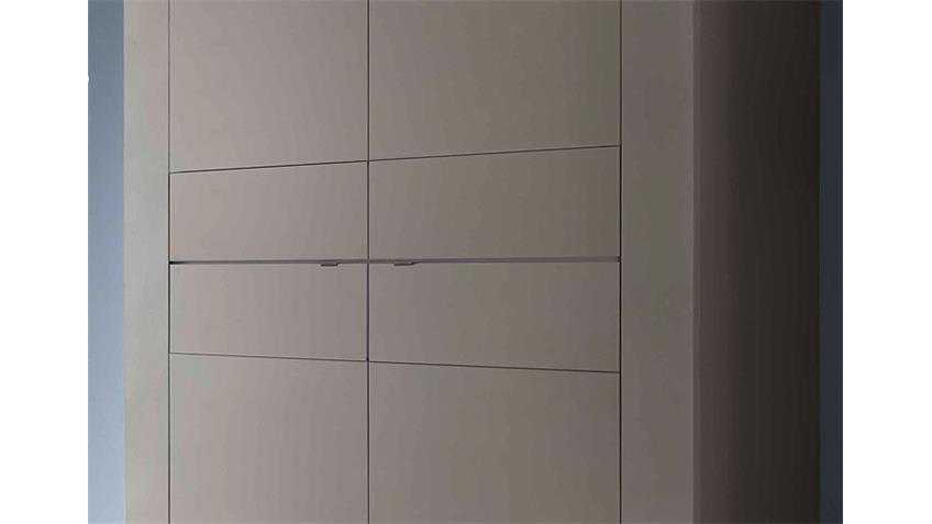 Highboard BASIC Sideboard in Beige matt mit 4 Türen
