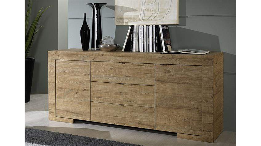 sideboard milano kommode in eiche natur breite 191 cm. Black Bedroom Furniture Sets. Home Design Ideas