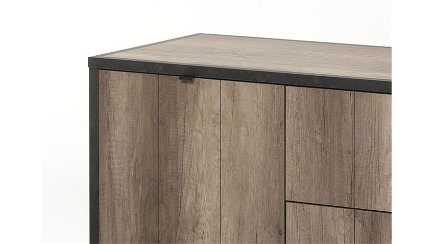 Sideboard TIM Eiche Sanremo und Anthrazit Beton-Optik