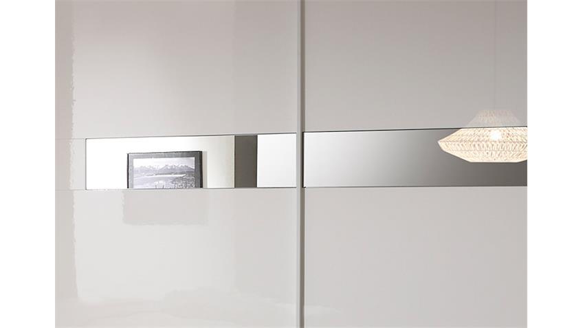 Schwebetürenschrank LIDIA Weiß Hochglanz lackiert B 280 cm