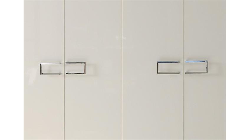 Kleiderschrank LIDIA Weiß Hochglanz lackiert B 237 cm
