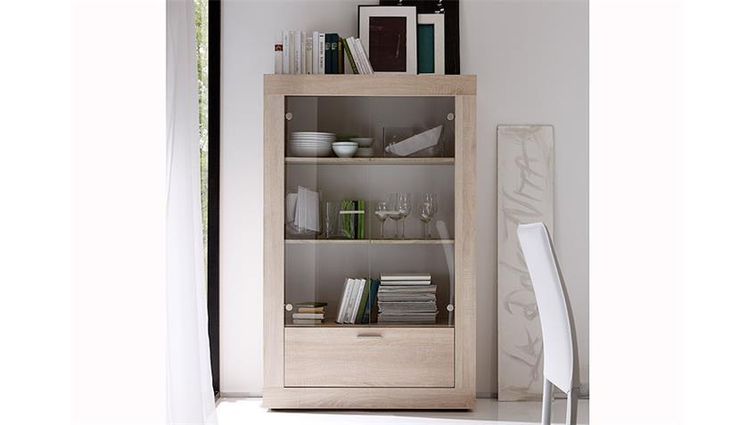 vitrine rustica highbaord kommode sonoma eiche melamin. Black Bedroom Furniture Sets. Home Design Ideas