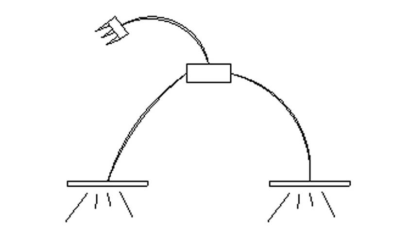 Beleuchtung für Bett Kopfteil MUSA DEA 2er Set Flex LED