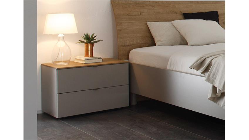 Schlafzimmer-Set TAMBURA Beige Matt und Eiche Natur