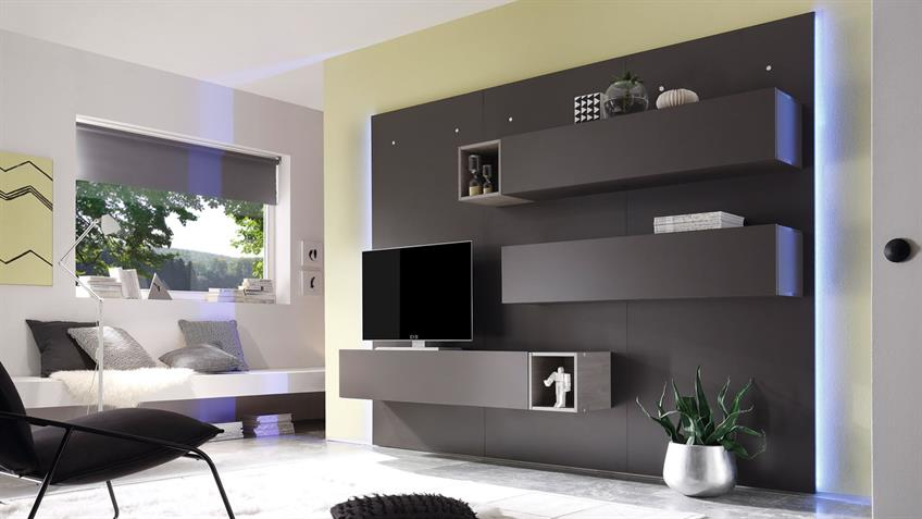 Led Ambientebeleuchtung Wohnzimmer : Led Ambientebeleuchtung Wohnzimmer : Paneel Beleuchtung Wohnwand CUBE ...