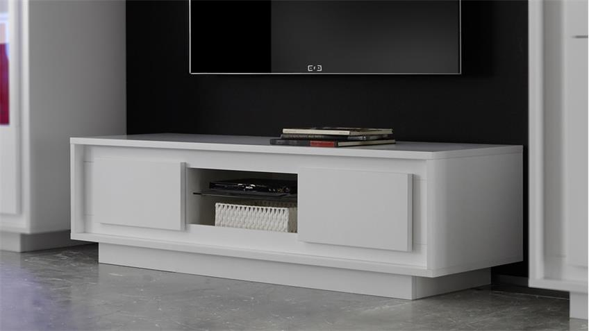 lowboard sky tv board in wei matt inklusive softclose. Black Bedroom Furniture Sets. Home Design Ideas