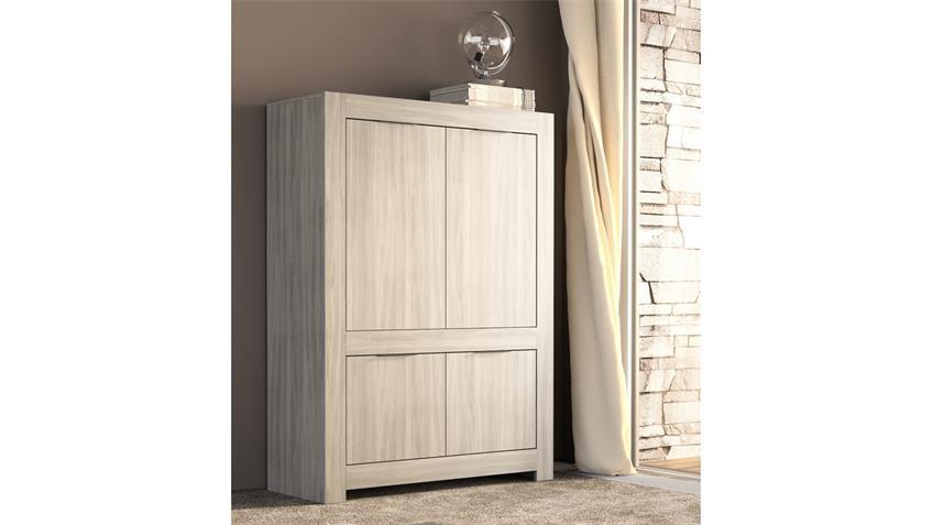 highboard capri buffet schrank 4 t rig in raucheiche und anthrazit. Black Bedroom Furniture Sets. Home Design Ideas