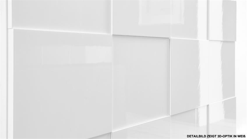 Sideboard DAMA 3 in anthrazit Hochglanz lackiert 241 cm