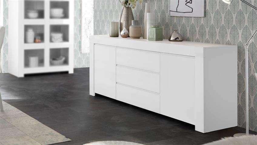 Sideboard FIRENZE Anrichte Kommode in weiß matt lackiert
