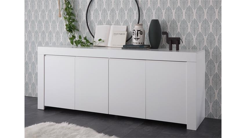 Sideboard FIRENZE Kommode Schrank in weiß matt lackiert
