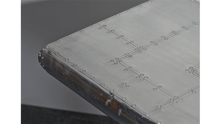 Esstisch AIRMAN 180x90, mit Aluminium beschlagen