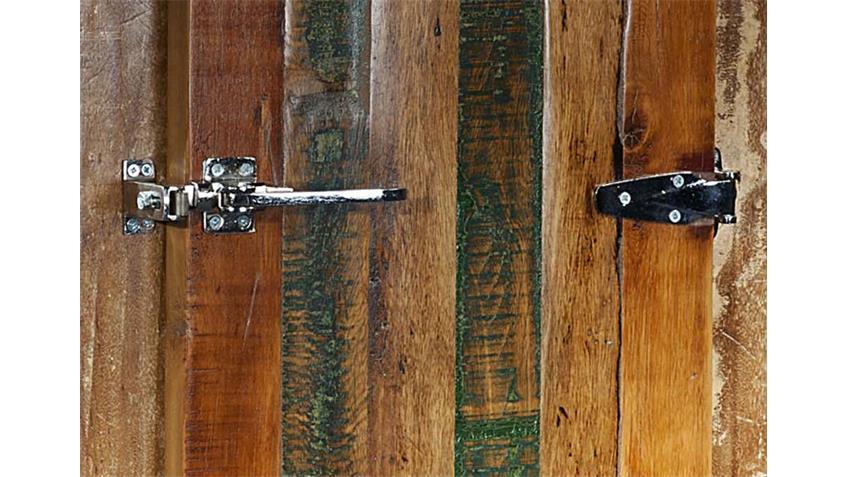 Schrank FRIDGE 1-türig Echt Altholz bunt lackiert