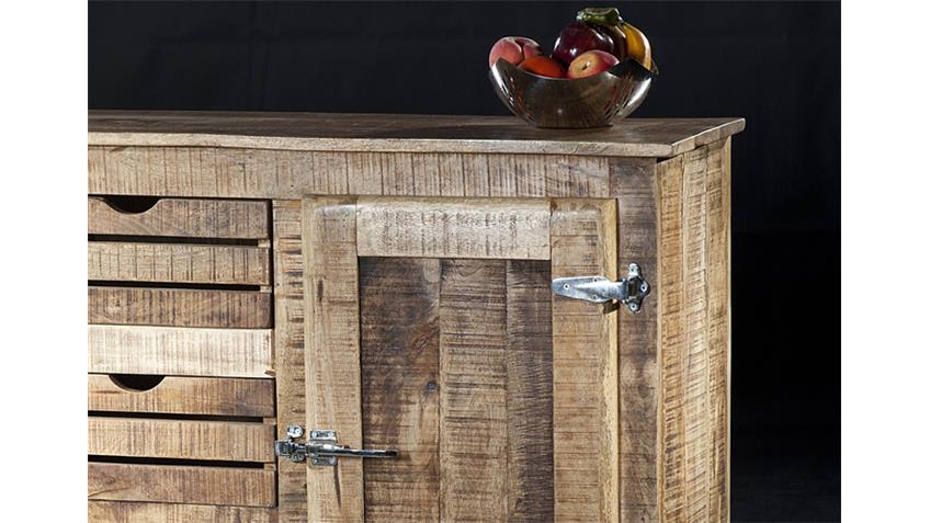 Sideboard FRIGO Massivholz Mango Country Style
