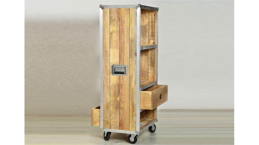 Bücherregal ROADIES Massivholz Mango Aluprofil Höhe 153 cm