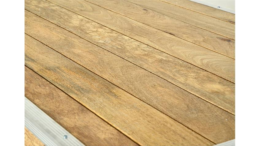 Stehtisch ROADIES Breite 80 cm Massivholz Mango Aluprofil