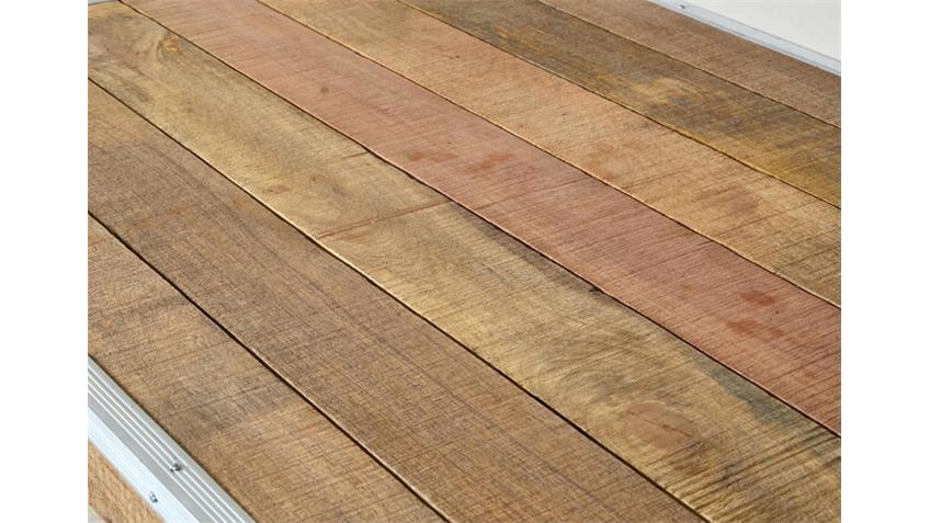 Esstisch 140 x 90 cm ROADIES Massivholz Mango Aluprofil