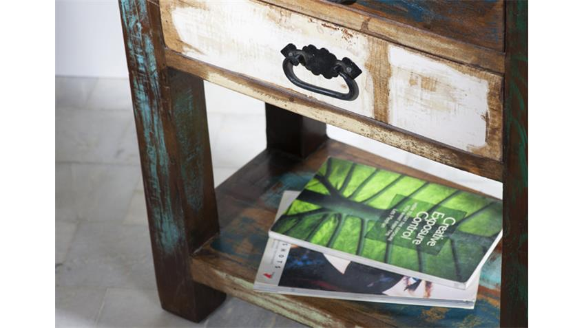 Telefontisch RIVERBOAT echtes Altholz mit Schubkästen