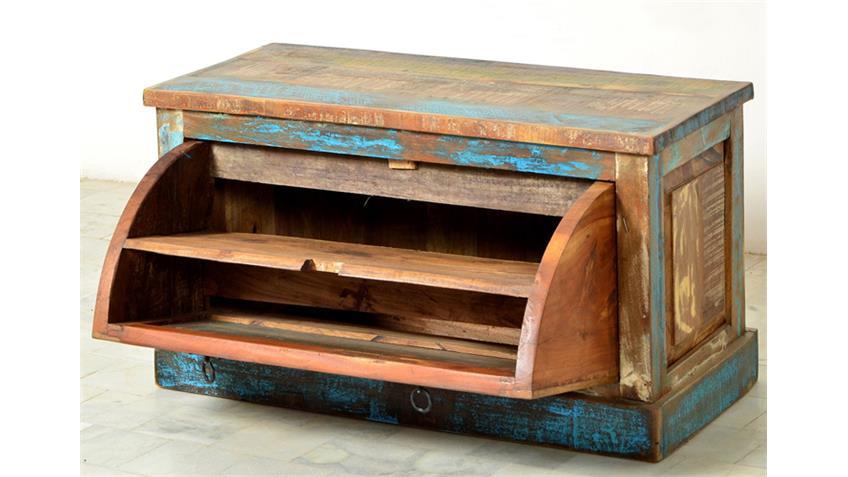 Schuhschrank RIVERBOAT echtes Altholz 45 cm hoch