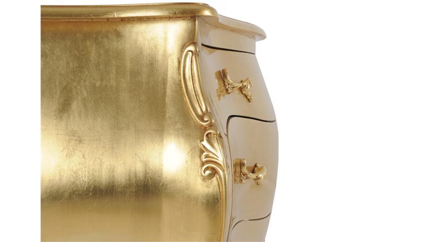 Kommode POMP Mahagoni MDF goldfarbig 120 cm breit
