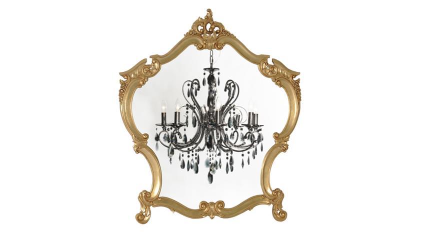 Spiegel POMP Mahagoni MDF goldfarbig 105 x 125 cm