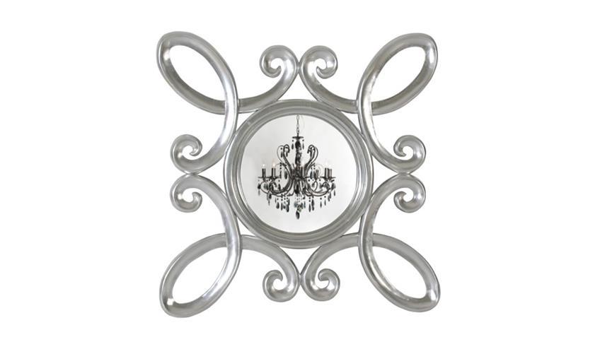 Spiegel POMP Mahagoni MDF silberfarbig 90 x 90 cm