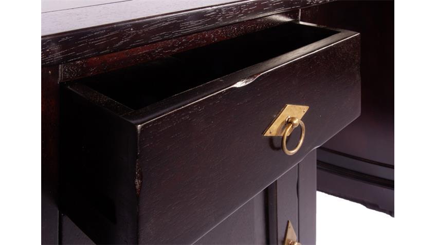 Schreibtisch SAMBA Akazie antikfinish mit 2 Schubkästen