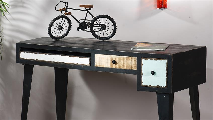 Schreibtisch ANTWERP im Used Look aus Mango Metall und MDF