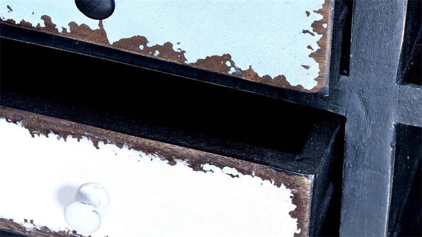Lowboard ANTWERP im Used Look aus Mango Metall und MDF
