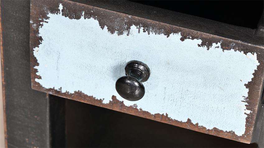 Blumenhocker kleinl ANTWERP im Used Look aus Mango Metall MDF