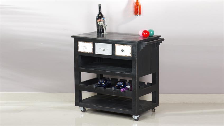 Küchenwagen ANTWERP im Used Look aus Mango Metall und MDF