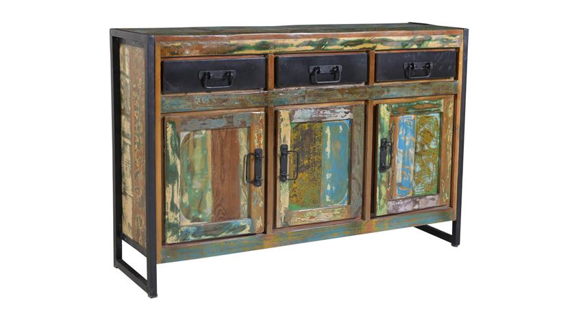Sideboard BALI Recycletes Altholz Altmetall factory design