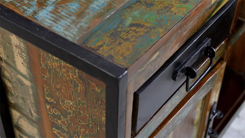 Sideboard BALI Recycletes Altholz Altmetall factory design