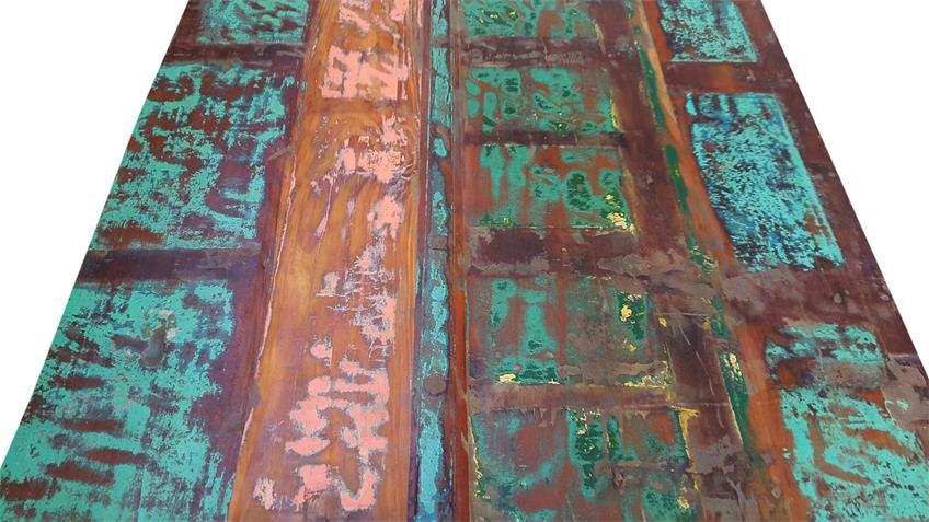 Esstisch groß BALI recycletes Altholz Altmetall factory