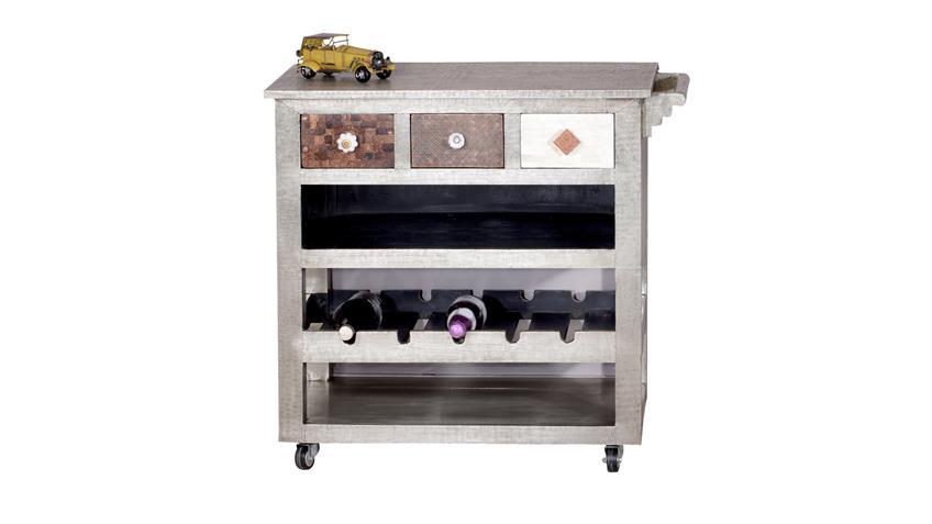 Küchenwagen Metal&Bone Mango Metall Kokosnussschale Knochen